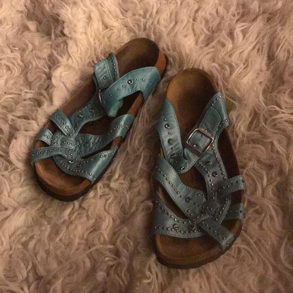 b6eaa0befde2 Birkenstock Shoes - Birkenstock sandal 39 Betula Pearl Blue Unique8 38
